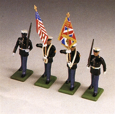 U.S. Marine Corps Color Guard -- 1 set remains