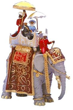 Lord and Lady Curzon Atop an Elephant