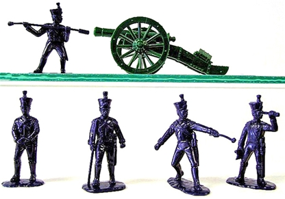 French Line Foot Artillerymen and Gun 1815
