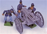 Union Soldiers and Gatling Gun