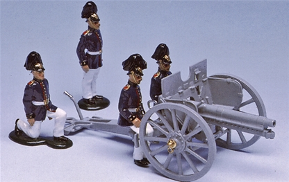 WW I German 7.7 cm Field Gun & Crew