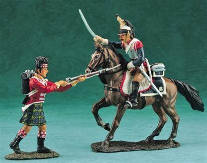 Mounted French Cuirassier vs. Highlander