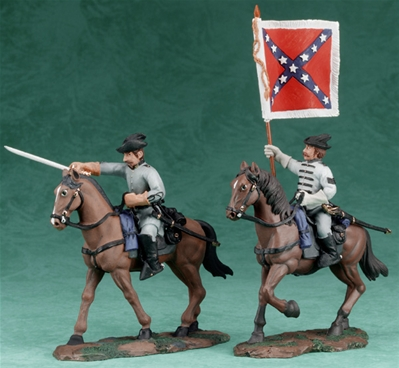 C.S.A. Cavalry Officer and Guidon