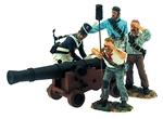 Pirates with Cannon - New Orleans - War of 1812