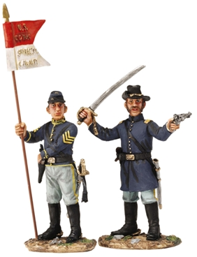 U.S. Cavalry Company Officer & Guidon Bearer