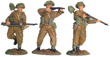 WWII British Infantry Advancing Set #2