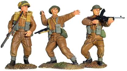 WWII British Infantry Advancing Set #1