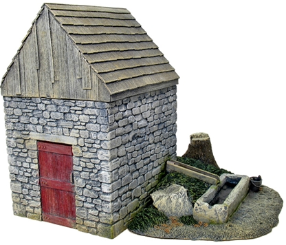 Springhouse with Trough and Stump Add-on