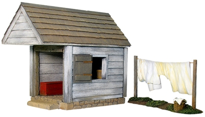 Wash House with Clothesline