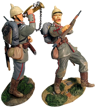 WW I German Wounded Bugler #1 - 1 in stock!