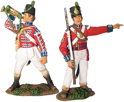 British Coldstream Gds Lt Co NCO & Bugler Set #1