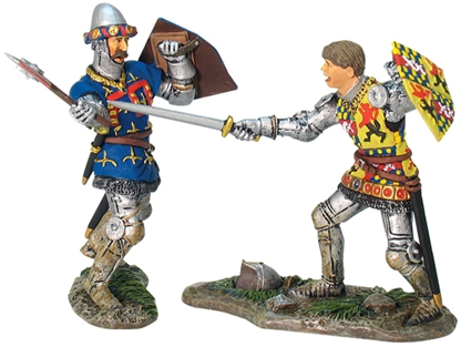 French Knight Charles of Artois and English Knight