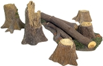 Fallen Tree and Stumps Accessory Set