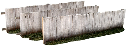 Plank Fence - 3 Straight Sections - Only 1 remains