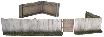 Plank Fence w Working Gate & Two Corners - only 2