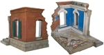 Ruined European Brick Building Corner - 2 in stock