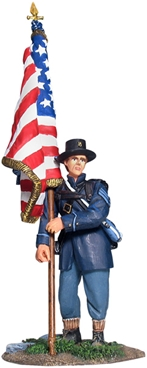 Union Infantry Flagbearer with U.S. Flag Set #1