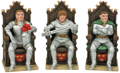 Lancelot - Galahad - Gawaine and 3 Thrones
