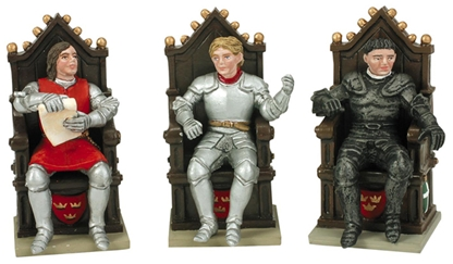 Percival - Tristram - Mordred and 3 Thrones