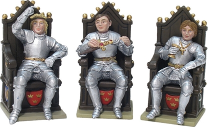 Lionel & Gareth & Bedivere with Three Thrones