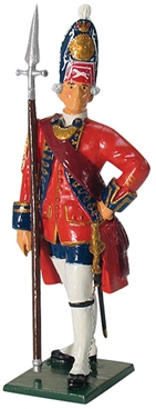 British Grenadier Officer - 1st Foot Guards 1755
