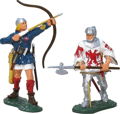 English Longbowman and Marshal of France