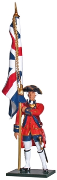 British Ensign King's Colors 1st Foot Guards 1755
