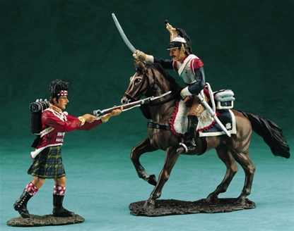 Mounted French Cuirassier vs. Highlander - no box