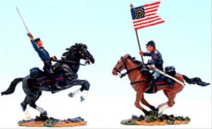 Union Artillery Officer & Flag Bearer - 1 in stock