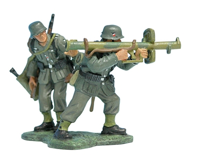 German Panzerschreck Anti-Tank Team