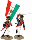 Mexican Officer and Flag Bearer - Alamo series