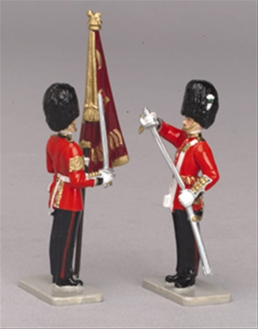 Receiving the Colour - Welsh Guards