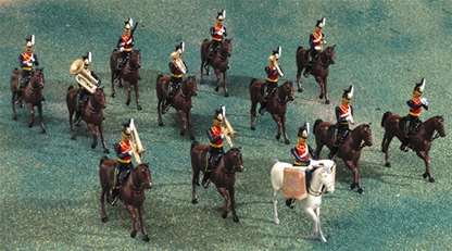 The 9th Lancers Mounted Band