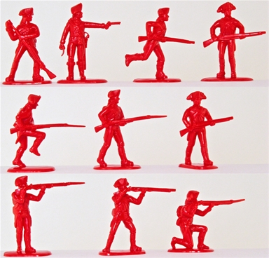 Accurate Figures LTD American Revolution British Infantry 20 Red Plastic Figures