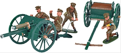 WW I British 18-pounder and Gun Crew