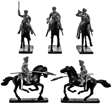 Indian Cavalry - figures in white plastic