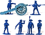 1776 Artillery -- U.S. Regulars in dark blue