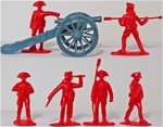 1776 Artillery -- British Regulars in red