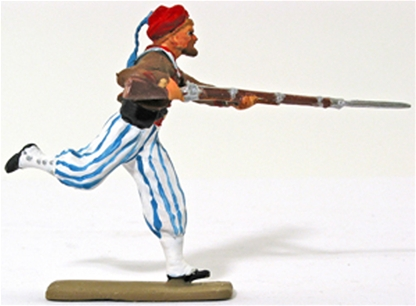 Civil War Zouave Charging with Rifle