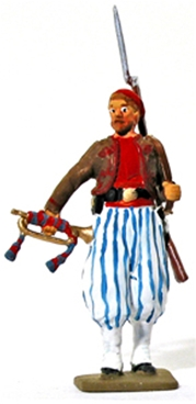 Civil War Zouave with Bugle