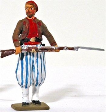 Civil War Zouave Advancing
