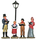 Caroler Family with Lamppost