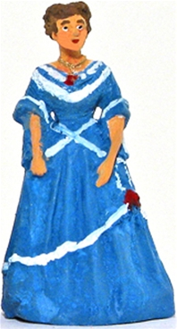 19th Century Woman in Ball Gown