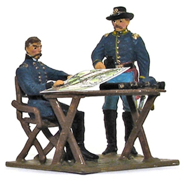 General McClellan and Cavalry Scout