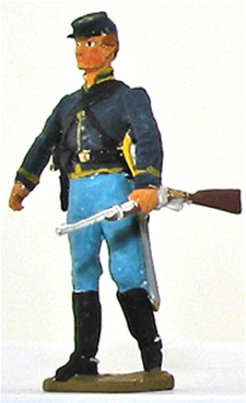 Civil War Cavalryman Walking with Carbine