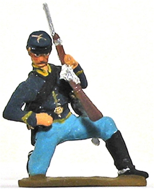 Civil War Cavalryman Kneeling Loading Carbine