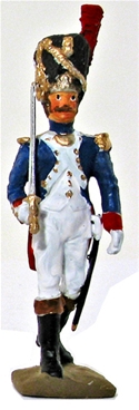Napoleonic French Grenadier - Officer with Sword