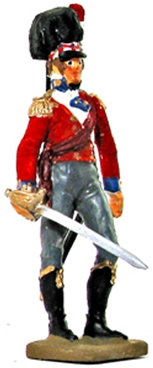 Officer with Claymore The Black Watch - 1814