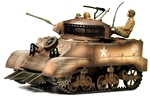 U.S. M-5 Light Tank in weathered paint job
