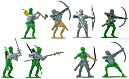 Medieval Archers - Airfix 54mm Knights and Men at